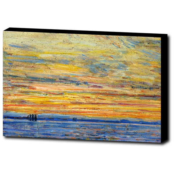 Premium Canvas Gallery Wrap - Evening By Childe Hassam