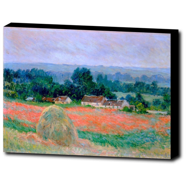 Premium Canvas Gallery Wrap - Haystack At Giverny By Claude Monet