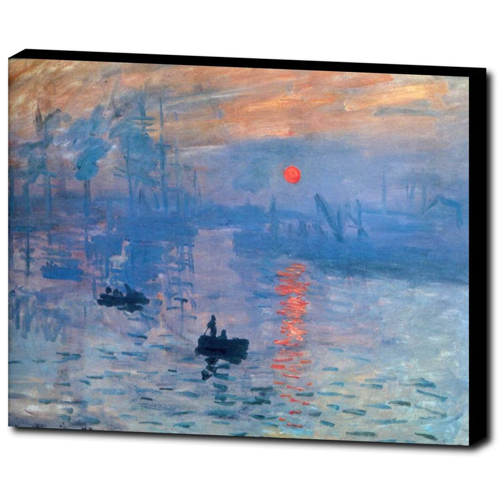 Premium Canvas Gallery Wrap - Impression, Sunrise By Claude Monet