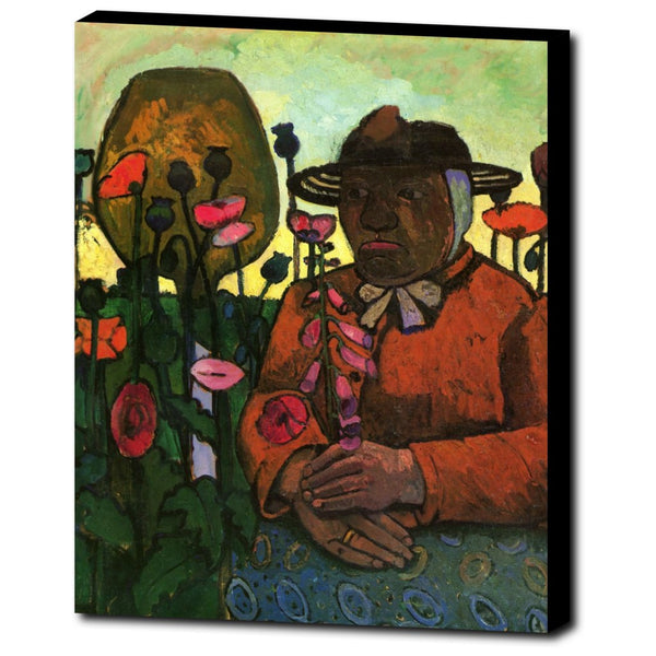 Premium Canvas Gallery Wrap - Old Woman In The Garden By Paula Modersohn-Becker