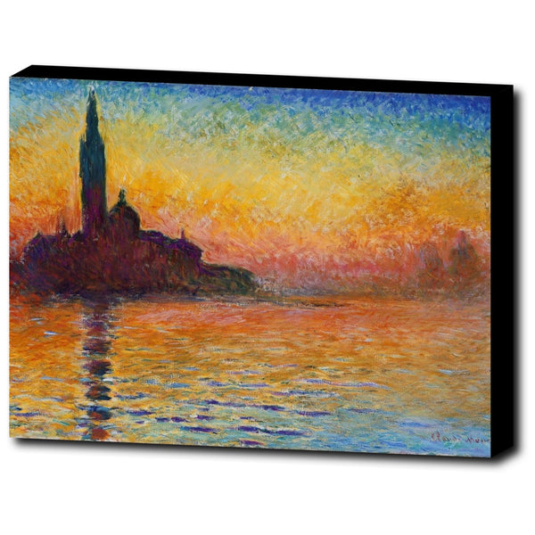 Premium Canvas Gallery Wrap - San Giorgio Maggiore At Dusk By Claude Monet