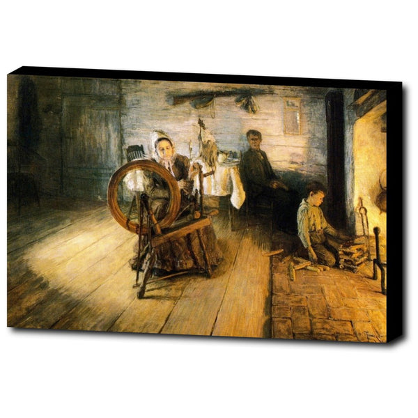 Premium Canvas Gallery Wrap - Spinning By Firelight - The Boyhood Of George Washington Gray By Henry Ossawa Tanner