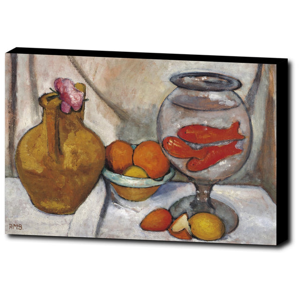 Premium Canvas Gallery Wrap - Still Life With Fish Bowl By Paula Modersohn-Becker