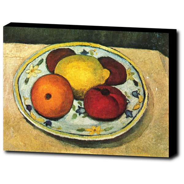 Premium Canvas Gallery Wrap - Still Life With Lemon, Orange And Tomato By Paula Modersohn-Becker