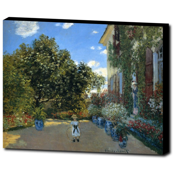 Premium Canvas Gallery Wrap - The Artist's House At Argenteuil By Claude Monet