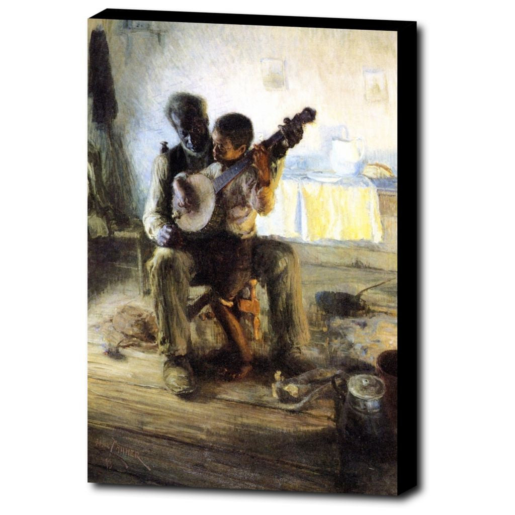 Premium Canvas Gallery Wrap - The Banjo Lesson By Henry Ossawa Tanner