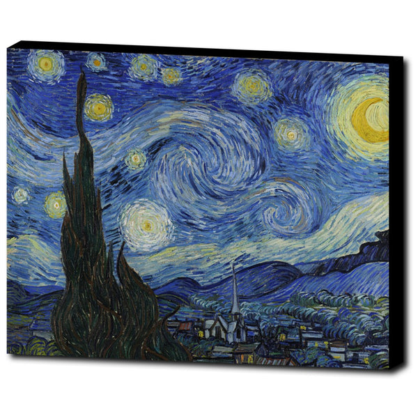 Premium Canvas Gallery Wrap - The Starry Night By Vincent Van Gogh