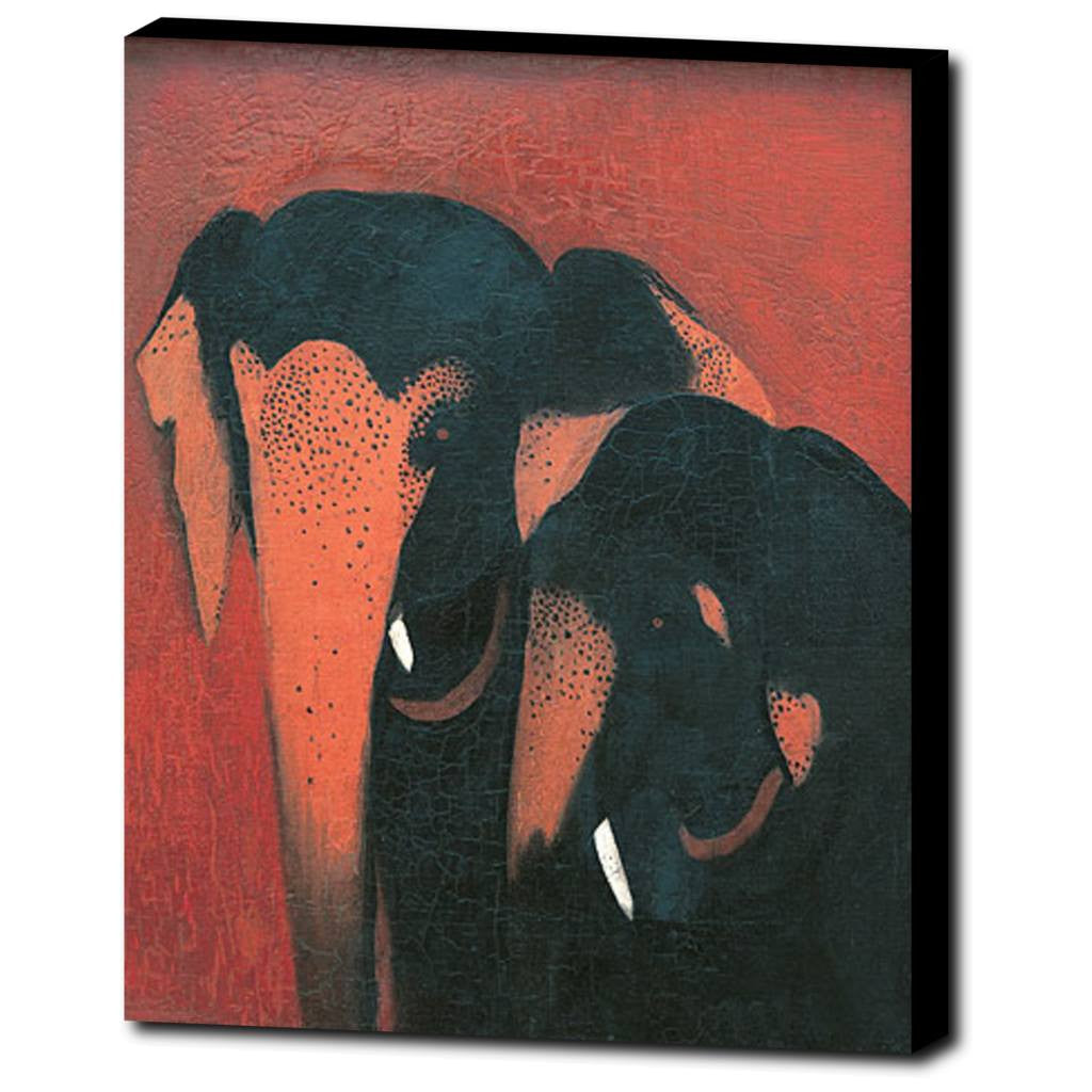 Premium Canvas Gallery Wrap - Two Elephants By Amrita Sher-Gil