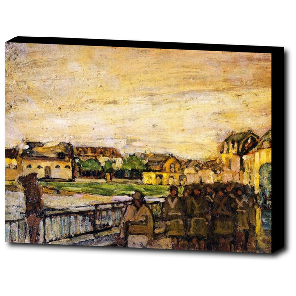 Premium Canvas Gallery Wrap - War Scene, Etaples, France By Henry Ossawa Tanner