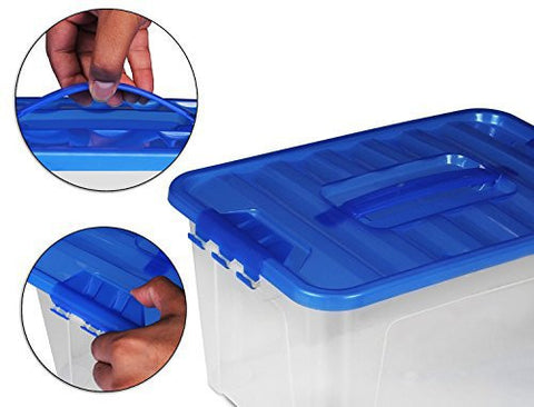 Food Storage Container (set of 54 pcs) - Blue - BPA Free - Reusable -  Environment Friendly - Multipurpose Use for Home Kitchen or Restaurant - by