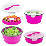 Smart Planet Eco Collapsible Salad Bowl, 64 oz, Pink