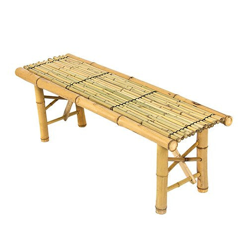 Best Choice Bamboo Bench Tiki Tropical Coffee Table Bench Patio Room Bar Outdoor New