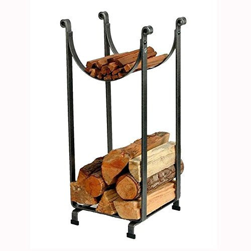 Enclume Sling Log Rack, Hammered Steel