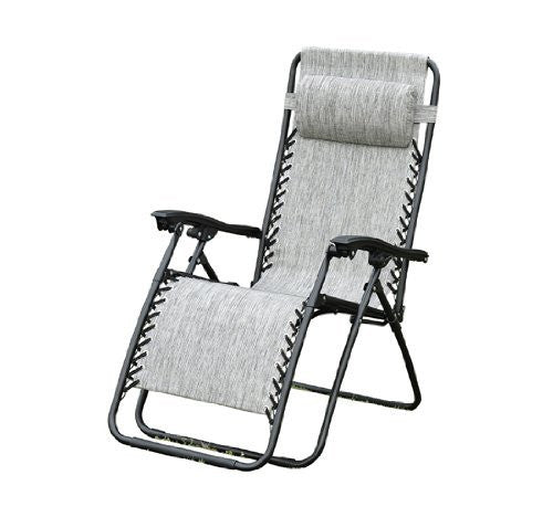 Outsunny Zero Gravity Recliner Lounge Patio Pool Chair, Granite Gray