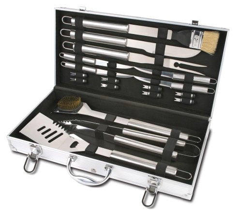 Style Asia HW5266 Chefs Basics Select 18-Piece Stainless-Steel BBQ Set with Aluminum Storage Case (Discontinued by Manufacturer)