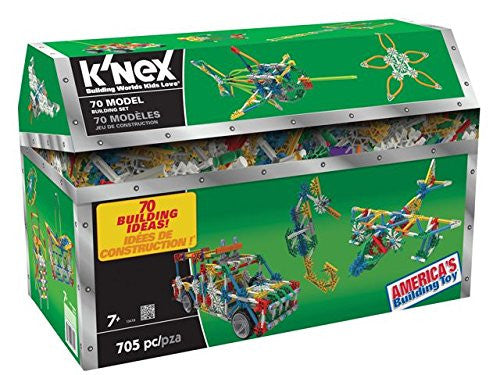 K'nex 70 Model Building Set, 13419, 705 piece