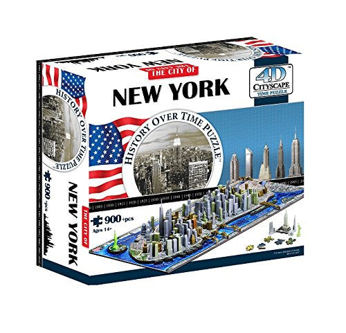 4D New York City Skyline Time Puzzle