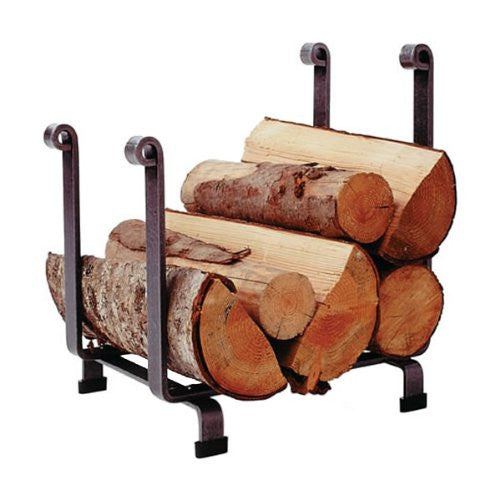 Enclume Hearth Log Rack, Hammered Steel