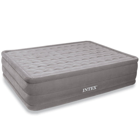 Intex Ultra Plush Airbed with Built-in Electric Pump, Queen, Bed Height 18""