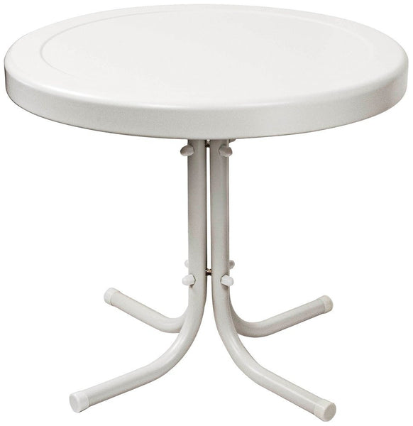 Crosley Furniture Griffith Metal 20-Inch Side Table, White