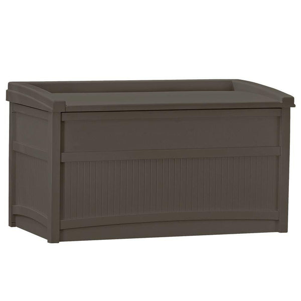 Suncast Outdoor Patio 50 gal. Storage Resin Deck Box, Espresso