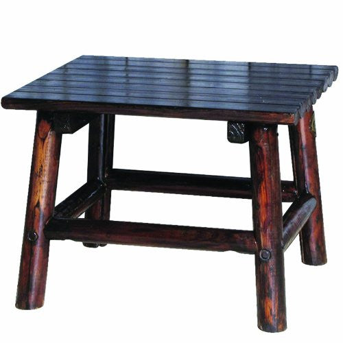 Char-Log 24-Inch by 18-Inch High End Table