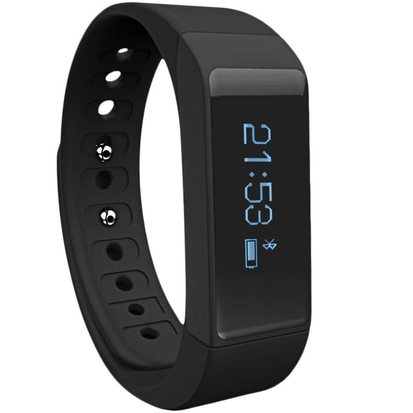 Toprime® Fitness Tracker Waterproof Replaceable Sleep Tracker,Black