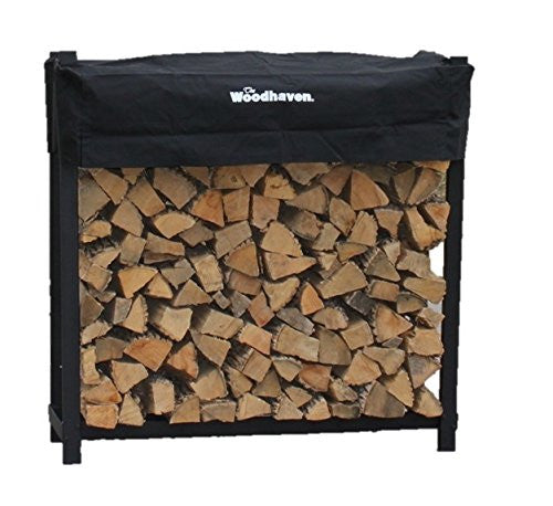 The Woodhaven 4 Foot Firewood Log Rack