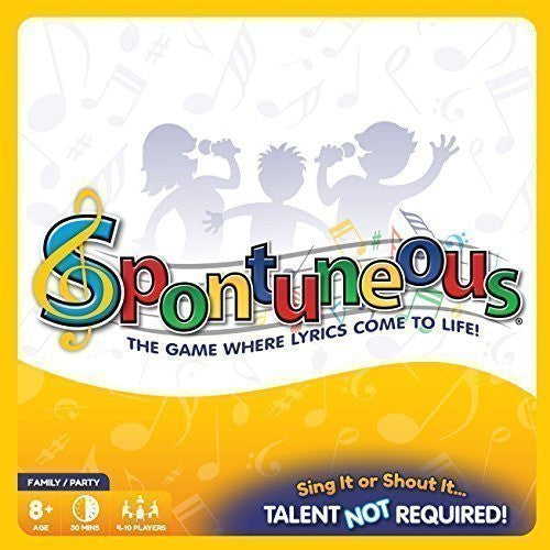 Spontuneous - Family Board Game Night - The Game Where Lyrics Come to Life! Sing It or Shout It....Talent NOT Required! (2015 Best Gifts / Party Games for Kids, Children, Teens, Tweens, Adults & Families, Boys or Girls)