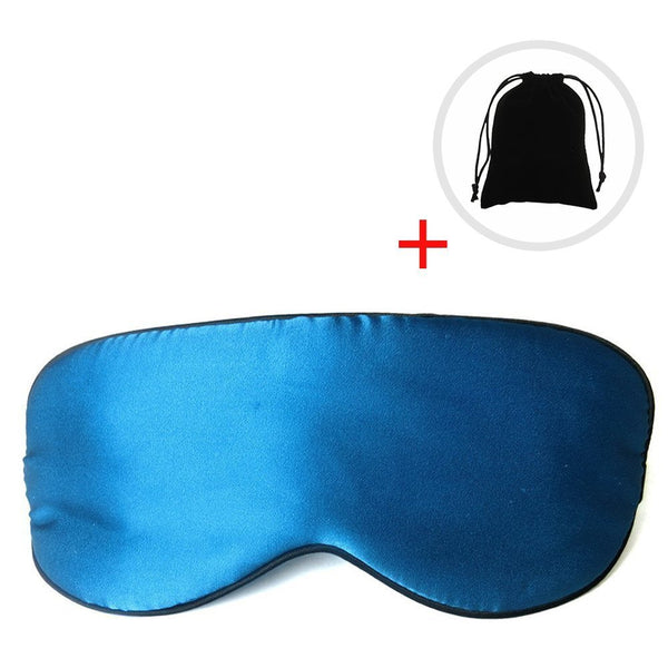 Nippery Natural Mulberry Silk Sleep Mask, Reversible Sleep Silk Blinder, Eyeshade for Travel, Relaxing, Flight, Shift Workers and Fast Asleep, Blue Color