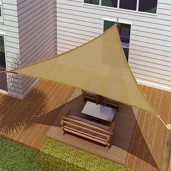 New ProSource Sand Color 16' Oversized Sun Shade Sail Shade canopy Sun Shelter
