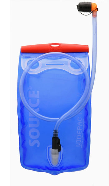 Source Outdoor Widepac Hydration System Reservoir with Helix Bite Valve, Transparent Blue