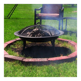 Sunnydaze Portable Camping Fire Pit with Carrying Case, 29 Inch Diameter