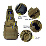 BX warehouse Outdoor Tactical Shoulder Backpack, Military & Sport Bag Pack Daypack for Camping, Hiking, Trekking, Rover Sling,chest bag