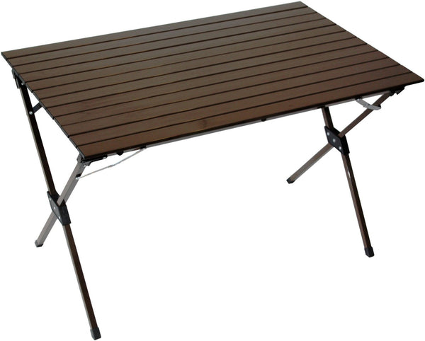 Table in a Bag LT4327B Large Tall Aluminum Portable Table With Carrying Bag, Brown