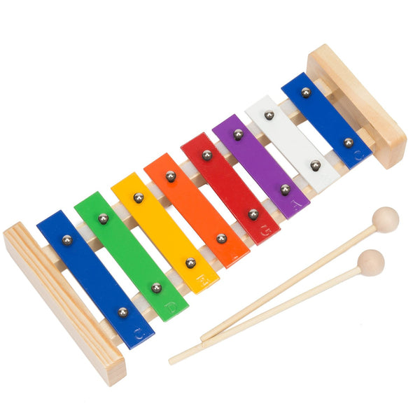 Glockenspiel Xylophone, Best First Musical Instrument for Children, Fun and Educational for All Ages, Tuned Quality Instruments include Two Wood Mallets and Song Book with Early Music Education Songs