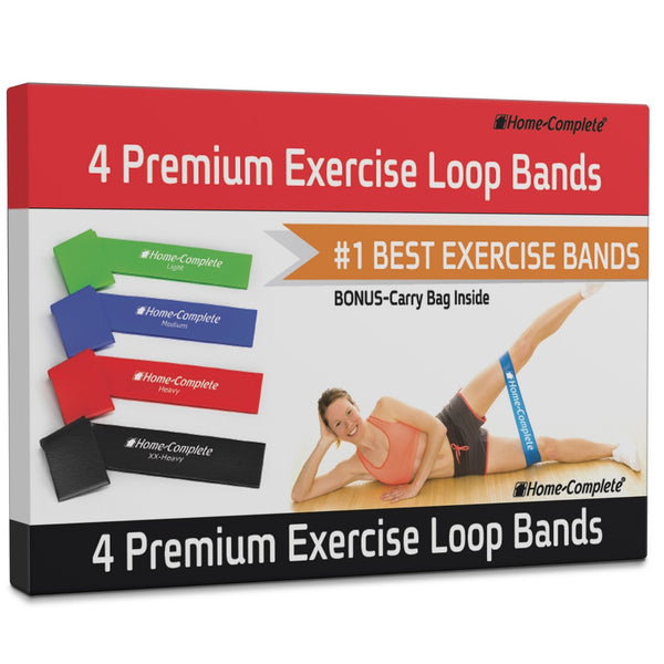 3eeb8f6fc Exercise Resistance Loop Bands-Set of 4 Strength Performance Bands-Gre –  Luxberra