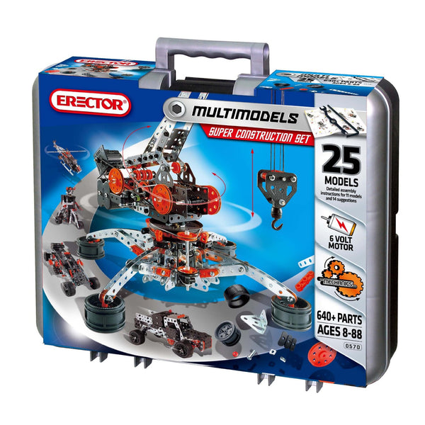 Meccano-Erector - Super Construction Set, 25 Models, 640+ Parts