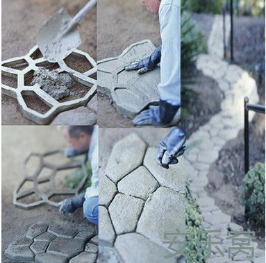 Garden Paving Plastic Mold For Garden Concrete Molds For
