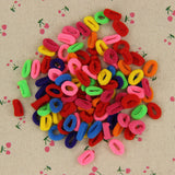 100 Pcs Colorful Child Kids Hair Holders Cute Rubber Hair Band Elastics Accessories Girl Women Charms Tie Gum