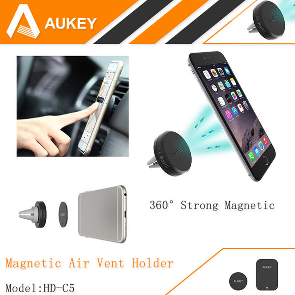 360 Degree Universal Car Holder Magnetic Air Vent Mount Smartphone Dock Mobile Phone Holder PC / Cell Phone Holder Stands