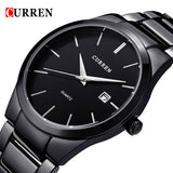 Luxury Brand CURREN Men Full Stainless Steel Business Watches Men's Quartz Date Clock Men Wrist Watch