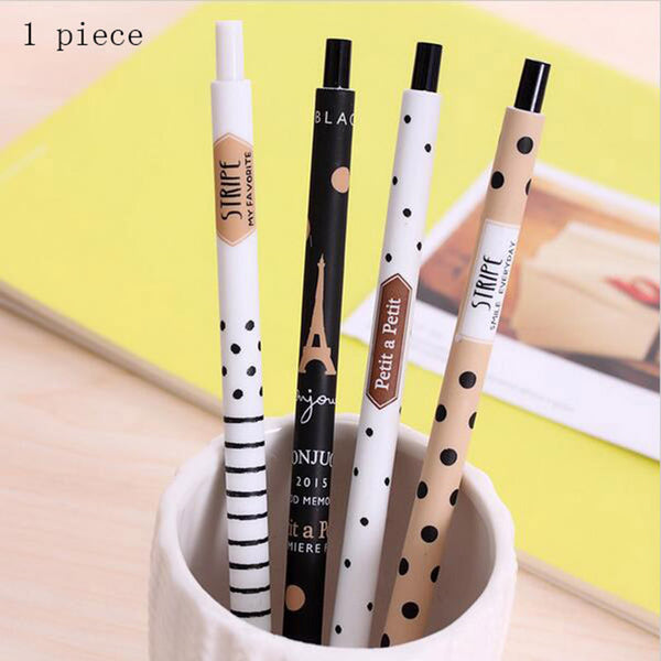 Cute Kawaii Plastic Mechanical Pencil Lovely Dots Tower Automatic Pen For Kids Korean Stationery