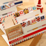 Cute Mini Memo Pad Sticky London post it Note Paper Scrapbooking Sticker Pads Creative Stationery