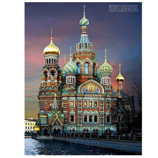 3D Diy Diamond Embroidery Painting St. Petersburg Church Home Decoration Diamond Painting Cross Stitch