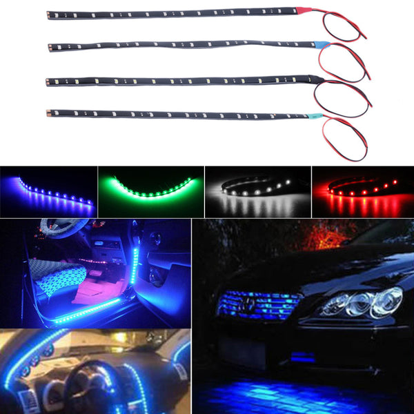 Waterproof 15 LED 30cm Car Styling super waterproof flexible Car Light Daytime Running Lights  DRL Soft Strips