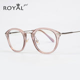 TR Frame Fashion Glasses Women Eyeglasses frame Vintage Round Clear Lens Glasses