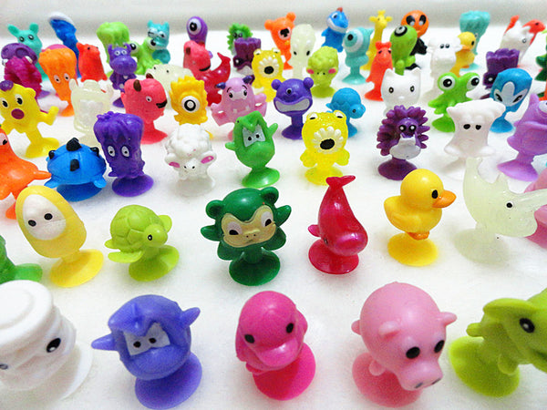 Mini Sucker Dolls kids Marine Monster Animal Cupule Suckers Action Toy Suction Cup Collector Capsule Model Puppet 50Pcs/lot