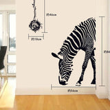 Zebra DIY Wall Stickers Abstract Art Black Decor Animal Stickers Decoration