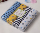100% cotton flannel baby blanket 4pcs/pack receiving newborn colorful baby bedsheet supersoft blanket 76x76cm